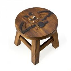 Dřevěná dětská stolička - netopýr