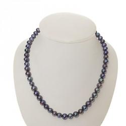 Perlový náhrdelník Modrý