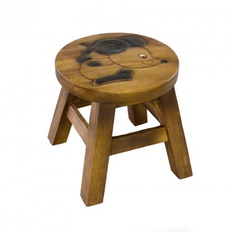 Dřevěná dětská stolička - myš