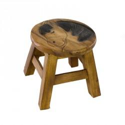 Dřevěná dětská stolička - KŮŇ
