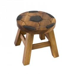 Dřevěná dětská stolička - fotbalový míč