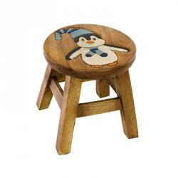 Dřevěná dětská stolička - tučňák
