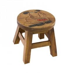 Dřevěná dětská stolička - buldoček