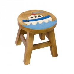 Dřevěná dětská stolička - parník