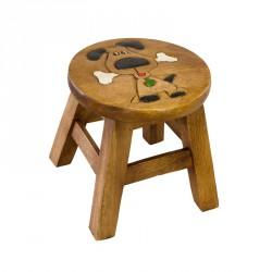 Dřevěná dětská stolička - PEJSEK S KOSTIČKOU