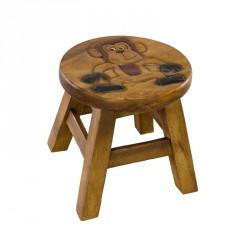 Dřevěná dětská stolička - opičák