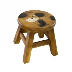 Dřevěná dětská stolička - MRKACÍ PEJSEK