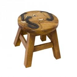 Dřevěná dětská stolička - slon s kly