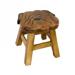 Dřevěná dětská stolička - tvarovaný pejsek