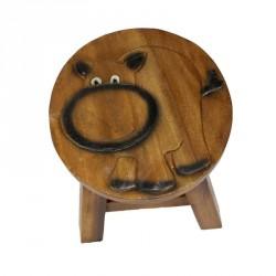Dřevěná dětská stolička - hroch