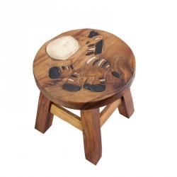 Dřevěná dětská stolička - zebra