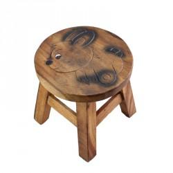 Dřevěná dětská stolička - zajíc I