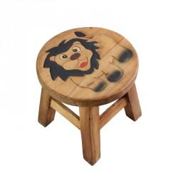Dřevěná dětská stolička - lev I