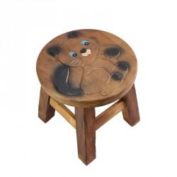 Dřevěná dětská stolička - koťátko