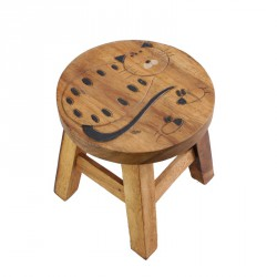 Dřevěná dětská stolička - KOČKA S MYŠÍ