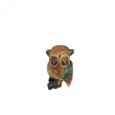 Dřevěná houkající sova - barevná