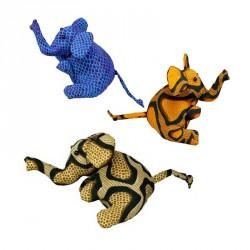 Slon plněný pískem - různé druhy