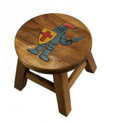 Dřevěná dětská stolička - RYTÍŘ