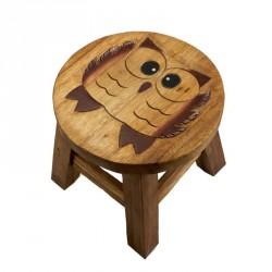 Dřevěná dětská stolička - SOVA