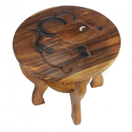Dřevěný stolek s obrázkem MYŠ