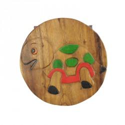 Dřevěný stolek s obrázkem ŽELVA