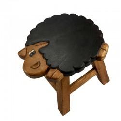 Dřevěná dětská stolička - OVEČKA ČERNÁ