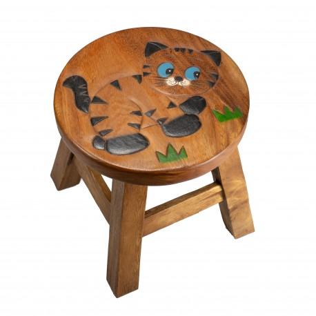 Dřevěná dětská stolička - KOŤÁTKO V TRÁVĚ