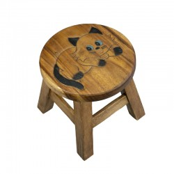 """Dřevěná dětská stolička - kočička """"číhací"""""""