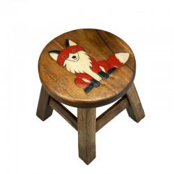 Dřevěná dětská stolička - LIŠKA