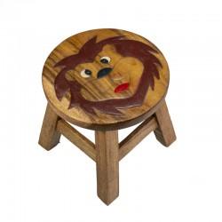 Dřevěná dětská stolička - LVÍ HLAVA