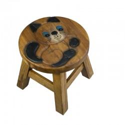 Dřevěná dětská stolička - baculaté kotě