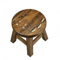 Dřevěná dětská stolička - HROCH S OTEVŘENOU TLAMOU