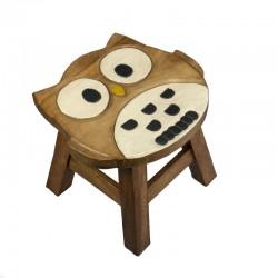 Dřevěná dětská stolička - kočka spící tvar