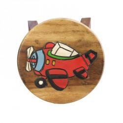 Dřevěná dětská stolička - letadýlko