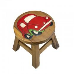 Dřevěný stolek - ČERVENÉ AUTO