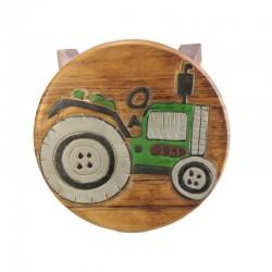 Dřevěný stolek - TRAKTOR ZELENÝ