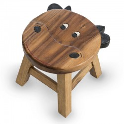 Dřevěná stolička - KRAVIČKA TVAROVANÁ