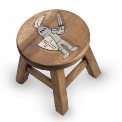 Dřevěná stolička - RYTÍŘ ŠEDÝ