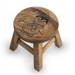 Dřevěná stolička - TUČŇÁK PŘÍRODNÍ