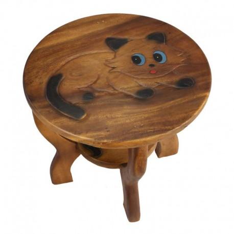 Dřevěný stolek - KOČIČKA ČÍHACÍ