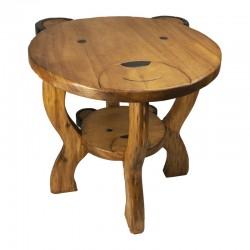 Dřevěný stolek - HLAVA MEDVĚDA