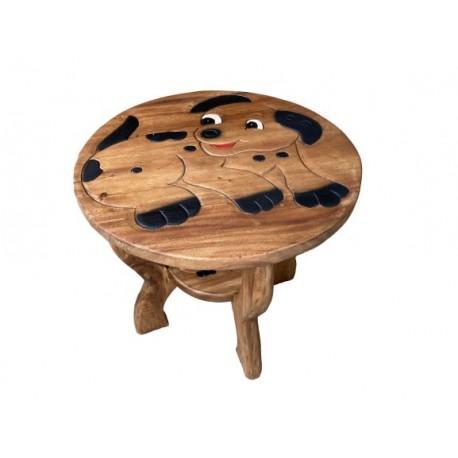 Dřevěný stolek - PEJSEK SMĚJÍCÍ