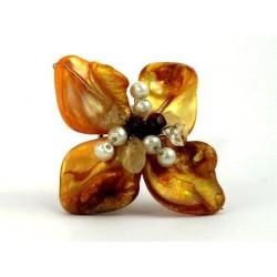 Prsten - žlutý květ