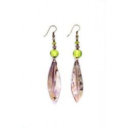 Perleťové náušnice - fialové